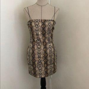 Fashion Nova snake print mini dress. Worn once.